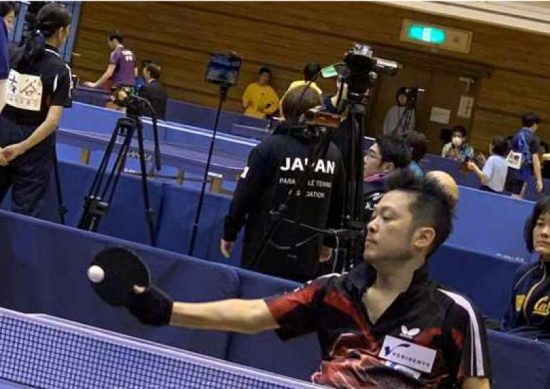 パラ卓球 サポーター 松尾選手
