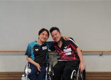 松尾選手 皆見選手 パラ卓球